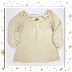 Will Smith Small Ivory long sleeve blouse